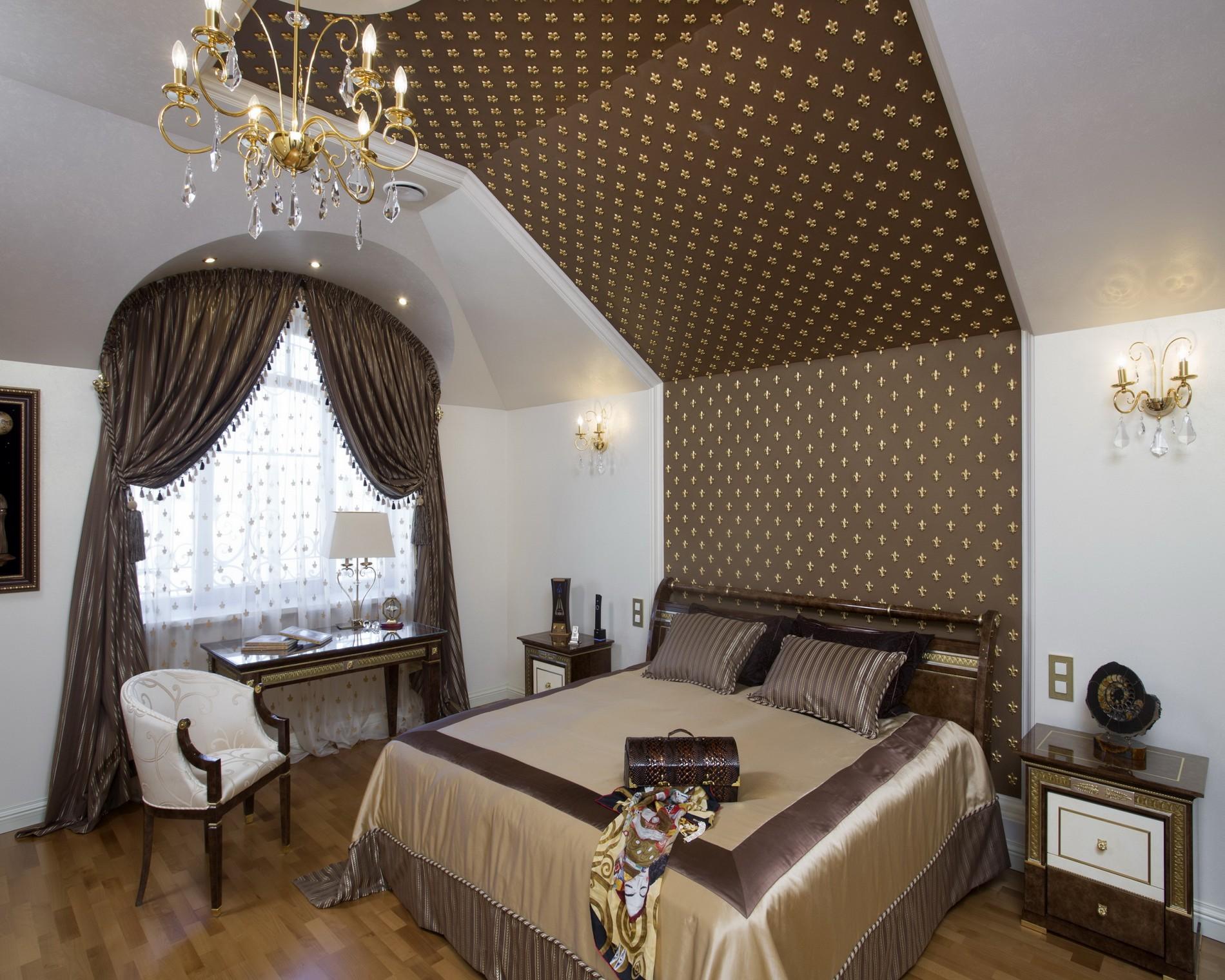 Эксклюзивная спальня в классическом стиле